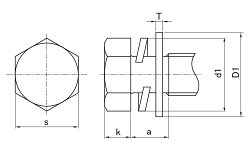 ステンレス/茶ブロンズ(GB6号)トリーマセムス[P=3]M10×60【小箱:1箱/50本入り】
