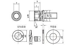 鉄(SCM435)/ユニクロキャップセムス[P=4]M4×10【小箱:1箱/1000本入り】