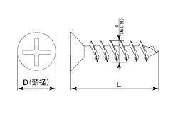 鉄/黒色クロメート(+)サラパーチビスM3×14【小箱:1箱/3500本入り】