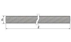 ステンレス(BUMAX88)/生地メーター寸切ボルト[BUMAX8.8]M12×1000【バラ売り:1本入り】