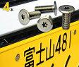 ナンバープレート用ボルト フラットタイプステンレス(シルバー) 4本 [ボルトのみ]