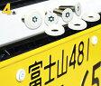 ナンバープレート用ボルト ピン・トルクスサラステンレス(ホワイト) 4本 [ボルト・ワッシャーのみ]