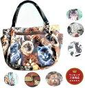 【お得なクーポン発行中】USAコットンの猫柄 手提げバッグ|レディース メンズ 猫 ネコ ねこ 雑貨 グッズ 鞄 ビニール コーティング ラミネート USAコットン| その1
