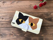三毛猫手帳型スマホケース・Lサイズ01