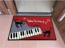 (^O^)/大人気!!新作!!一点のみ入荷!!☆~~黒猫ミュー・と・グランドピアノ 45 x75