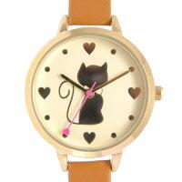 (^O^)/大人気!!黒猫・・ハート・💖・キャット・ウォッチ☆~~おしゃれに手首にも猫をいかがニャ!~~☆4カラー