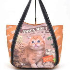 ☆~~大きめ!!猫柄バルーンバッグ~~☆ ~~ *おしゃれ・茶猫・・・オレンジカラー *一点限り入荷です。(^O^)/今春夏新作!!大人気!!~~☆~~