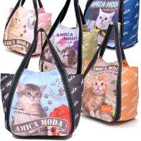 ☆~~猫柄バルーンバッグ~~☆~~*おしゃれ・茶猫・・・オレンジカラー*一点限り入荷です。(^O^)/今春夏新作!!大人気!!~~☆~~