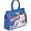 ☆~~大きめ!!手提げトートバッグ~~☆ ~~ *おしゃれ・アメリカンショートヘアー猫・・・ブルーカラー *限定入荷です。(^O^)/今春夏新…