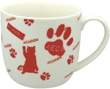(^O^)/春夏新商品!! やっと入荷したニャ~*,.*~おしゃれ赤猫・i肉球!!(*^^)v  おしゃれな・レッド*,.電子レンジ、食器洗浄機 使用可能。 オーブン 不可。