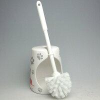 ☆彡ブリティッシュショートヘアーとなかよし猫・陶器サニタリー・ブラシ2点セット特価品