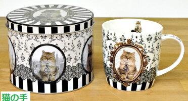 (^O^)/猫の手!!秋冬新作商品入荷しましたニャ!!*..*チンチラゴールデンマグ・缶入り*猫好きお買い得品・さんへのプレゼントに♪電子レンジ、食洗機使用可