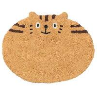 ☆大人気NO,!★ネコ(猫)の♪バス・ミニフロアーマット茶猫トラ顔猫