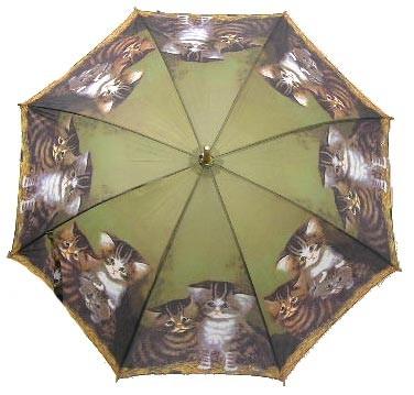 C.ウィルソン作の、たくさんの可愛いネコちゃん柄【傘 レディース かわいい イラスト ネコ...