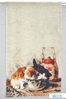 (^O^)/猫の手!!春夏新作!!☆~~おしゃれ~猫柄・麻57&綿43ストールグレイッシュ・ブラック(新作カラ—)!!☆~~LUNEJUMELLE~~☆!!数量限定販売
