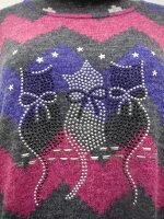 (^O^)/猫の手!!大人気!!☆~~あったかロングネック~~☆黒猫・赤リボン・ホワイトカラーチュニックセーター幅広い年代に使って頂けます*・・・一点限り入荷だょ