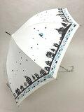 60cm ジャンプ傘 夜空ホワイト・耐風傘 *数量限定販売