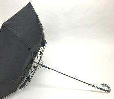 婦人長傘【モノトーン音符CAT】☆60cmジャンプ傘