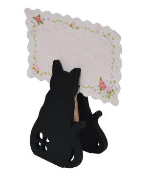 ☆彡黒猫さんのメモスタンド,.,.,.お座りタイプ