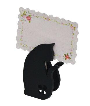 ☆彡黒猫さんのメモスタンド,.,.,.振り向きタイプ