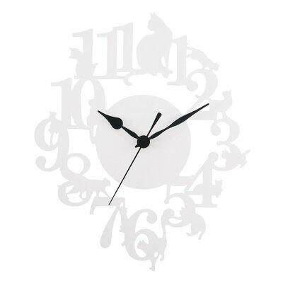 春夏新作掛時計 (WALL CLOCK)   ネコ ホワイト
