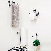 【ネコ】【おしゃれ】な【猫型】ワイヤー☆トイレシリーズ【CAT】タオルホルダー