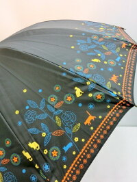 (^O^)/猫の手!!新作!!☆~~KITAGAWAブランド春夏新作!!・・・・ローズ猫にゃん・と・キャットガーデン・キラキラ・・~~☆ネイビー強風や雪に強い16本傘手開き式超撥水加工・UV99%カット高級傘