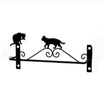 【ネコ】【おしゃれ】な【猫型】ワイヤー☆トイレシリーズ【CAT】トイレタオル掛けホルダーのみ販売