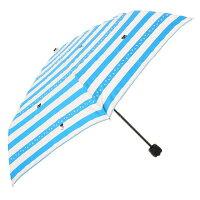 【ネコシリーズ】雨傘かくれんぼネコボーダー柄<長傘>レッド