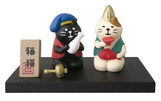 ~~☆~~ほろ酔いまったりお正月三毛猫・恵比寿さんにゃ!!と黒猫・大黒さんにゃ!!~~☆~~全部で5点SET