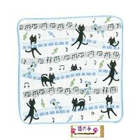 (^O^)/☆~~にゃん・と・・・黒ニャンとしっぽダンス・音符・ふわふわボディータオル・登場~~☆ブルー220X900