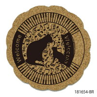 (^O^)/猫の手!!特価☆,,3匹の猫と音符・ト音記号猫コースター2枚セットホワイト..★☆~~一点限り入荷~~☆送料込み・簡易ラッピング込