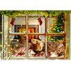 【ジョルダーノ・スタジオ】猫のクリスマスカード暖かな窓辺