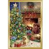 【ドナ・ゲルシンガー】猫と犬のクリスマスカードコジー・クリスマス