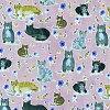 猫柄生地USAコットンパーティーキャッツ(50cm単位)