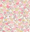猫柄生地さららピンクのハート(50cm単位)