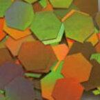 MysticFlakes ホロゴールド/ヘキサゴン 2.5mm 0.5g【ネイルアート/アートアクセサリー/ラメ/ホログラム/グリッター/ネイル用品】