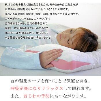 高さ調整枕「エアサポートピローレ・ムールソフト」【送料無料】【返品無料対応】レムールソフト/まくら/マクラ/エア枕/眠り製作所/高さ調節/肩こり/頚椎/いびき/日本製