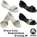 クロックス(CROCS) クロックス リナ エンベリッシュド ドルセー ウィメン(crocs lina embellished d'orsay w)レディース サンダル【女性用】 [AA]【30】の商品画像
