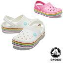クロックス(CROCS) クロックバンド レインボー グリッター クロッグ キッズ(crocband rainbow glitter clog kids) サンダル【ベビー & キッズ 子供用】 [AA]【14】