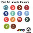 クロックス(CROCS)ジビッツ(jibbitz) フォントアート グロー イン ザ ダーク(m-w) (glow in the dark) /クロックス/シューズアクセサリー/アルファベット/イニシャル ゆうパケット可 [BLU] [小物] [AA-1]の商品画像