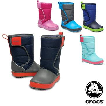 【送料無料】クロックス(CROCS) ロッジポイント スノー ブーツ キッズ(lodgepoint snow boot k)【子供用】【楽ギフ_包装選択】【r】[BB]