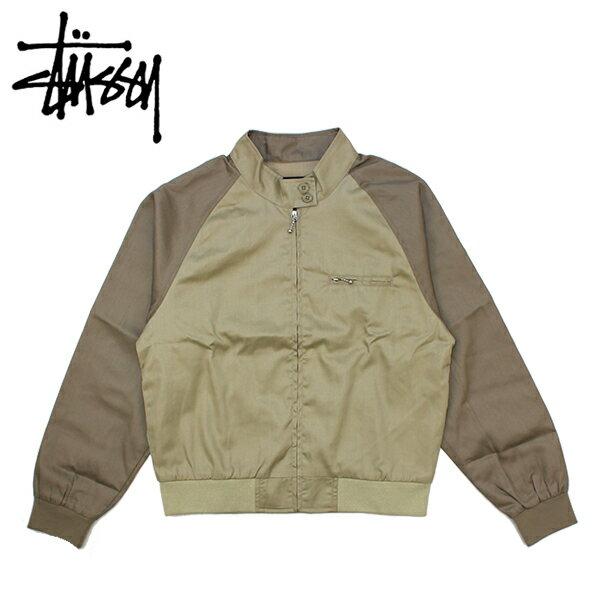 レディースファッション, コート・ジャケット (STUSSY) Louise Two Tone Harrington Jacket (WMNS) 38 BB