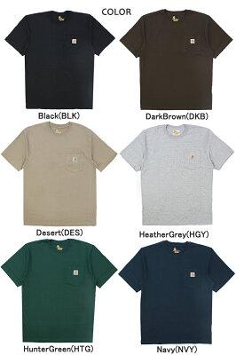 カーハート (Carhartt) WORKWEAR S/S POCKET T-SHIRT メンズ 半袖 Tシャツ/ワークウェア/カットソー/ ゆうパケット送料無料 US企画 [AA-2]・・・ 画像1
