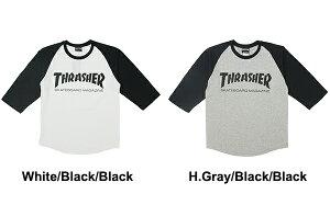 スラッシャー(THRASHER)MAGLOGO3/4BASEBALLTEE(TH8201)メンズ7分袖Tシャツ【楽ギフ_包装選択】