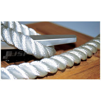 PLASTIMO(プラスチモ)ナイロン三つ打ロープ切り売り 破断強度1,210kg 8mmφ