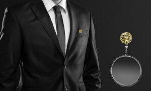 『簡易ラッピング対象』efluvi【ClipLoupe(クリップルーペ)】スーツやシャツのポケットに簡単に留められるルーペ