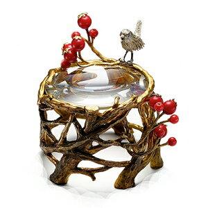 小鳥と赤い実の置き型ルーペ
