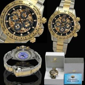 J.HARRISON高級時計クロノ・スケルトンJH-003GB