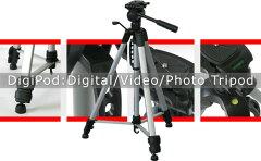 段伸縮のレバーロック式三脚。デジタルカメラ・ビデオカメラの撮影に 大型3WAY三脚